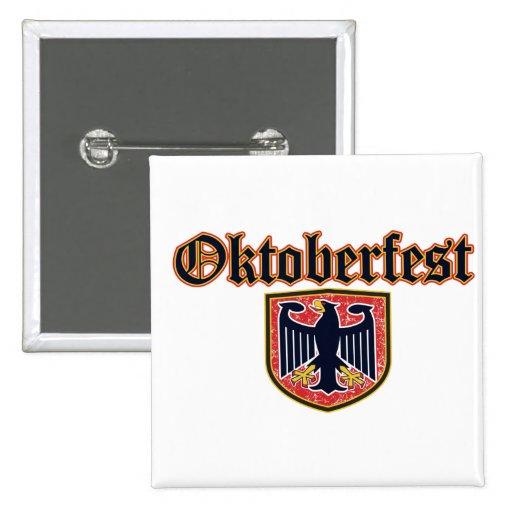 Oktoberfest Shield 2 Inch Square Button