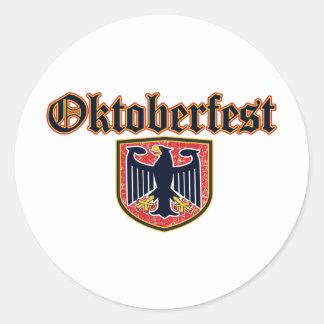 Oktoberfest Shield Classic Round Sticker
