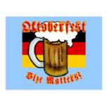 Oktoberfest Size Matters Fun Tshirt Postcard