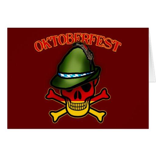 Oktoberfest Skull and Crossbones Design Card