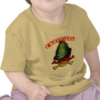 Oktoberfest Skull and Crossbones Design T Shirt