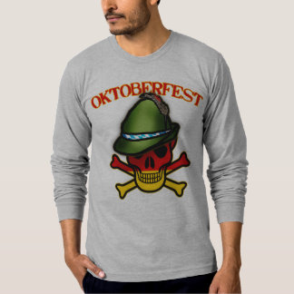 Oktoberfest Skull and Crossbones Design T-Shirt