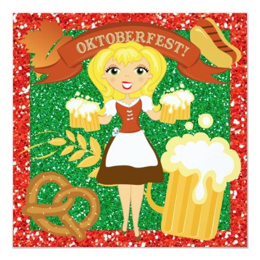 """OKTOBERFEST - SRF 5.25"""" SQUARE INVITATION CARD"""