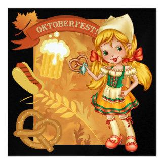 OKTOBERFEST - SRF 5.25X5.25 SQUARE PAPER INVITATION CARD