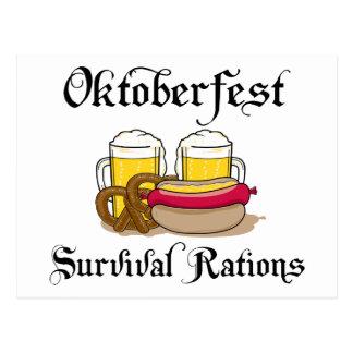 Oktoberfest Survival Rations T-Shirt Postcard