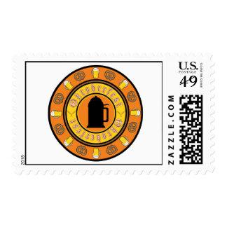Oktoberfest Tankard Badge Postage Stamp