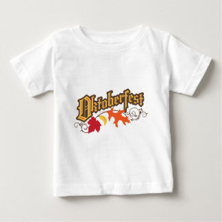 oktoberfest text and autumn leaves baby T-Shirt