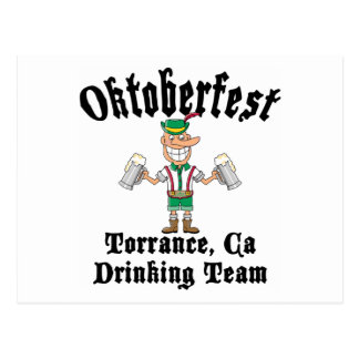 Oktoberfest Torrance, California Drinking Team Postcard