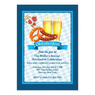 Oktoberfest trata la invitación invitación 12,7 x 17,8 cm