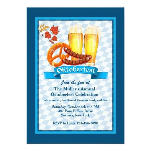Oktoberfest Treats Invitation