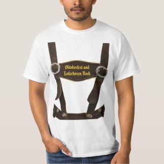 Oktoberfest und Lederhosen Rock T-Shirt