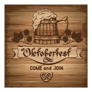 Oktoberfest viene se une a nos invitación invitación 13,3 cm x 13,3cm