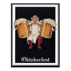 Oktoberfest Vintage Postcard at Zazzle