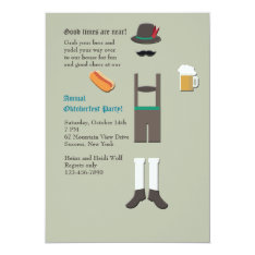 Oktoberfest Wear Party Invitation at Zazzle
