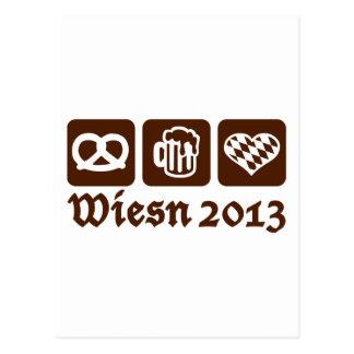 Oktoberfest Wiesn 2013 Tarjeta Postal