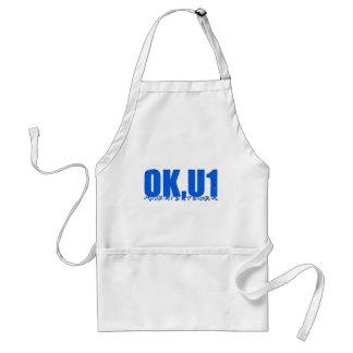 OKU1 en azul Delantal