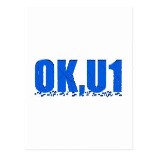OKU1 en azul Postales