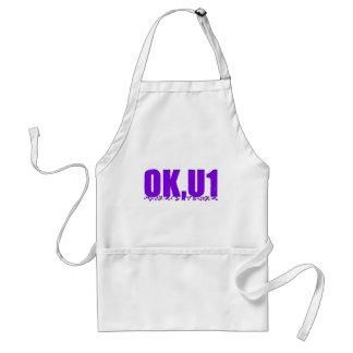 OKU1 en púrpura Delantales