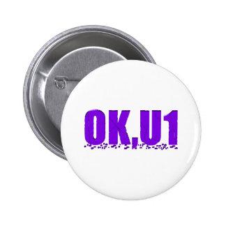 OKU1 en púrpura Pin