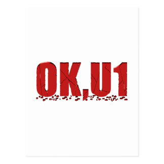 OKU1 in Red Postcard