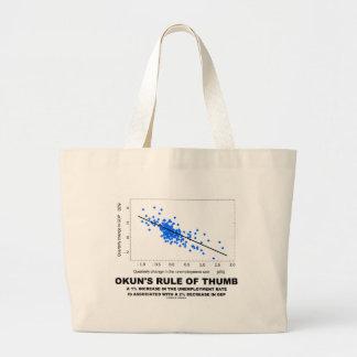 Okun's Rule Of Thumb (Linear Regression Economics) Large Tote Bag