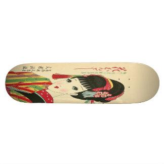 Okura, monopatín japonés de la belleza del animado skateboard