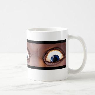 Ol' blue Eyes Is Back! - Writing on Left Coffee Mug