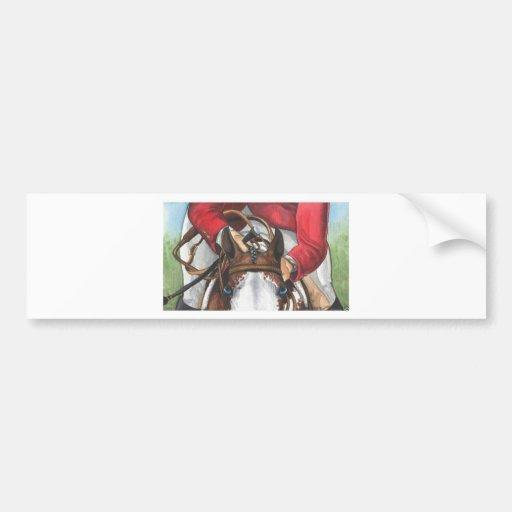 Ol Blue Eyes SHOWJUMPING Horse Art Car Bumper Sticker