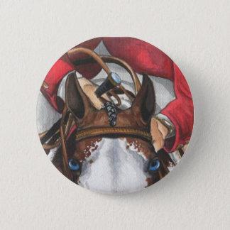 Ol Blue Eyes SHOWJUMPING Horse Art Pinback Button