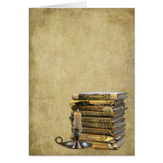 Ol Books & Candle- Prim Lil Note Cards