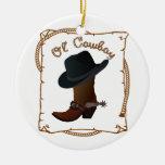 Ol' Cowboy Ceramic Ornament