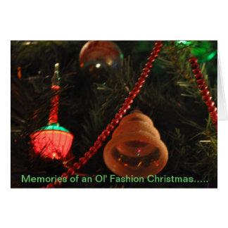 Ol' Fashion Christmas Memories Card