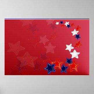 Ol' Glory Stars Poster