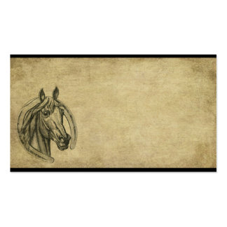 Ol' Horse & Horseshoe Prim Biz Cards