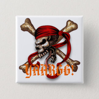 Ol Pirate Skull, YAARGG! Pinback Button