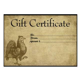 Ol' Rooster Struttin'- Prim Gift Certificate Cards