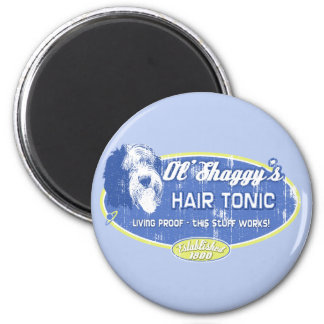 Ol' Shaggy's Hair Tonic 2 Inch Round Magnet