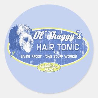 Ol' Shaggy's Hair Tonic Classic Round Sticker