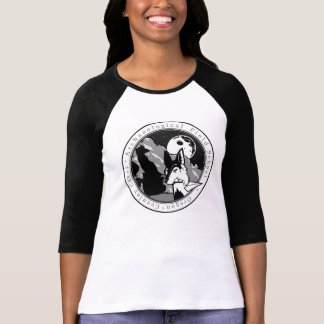 Ol' Willard the Coyote round design Connley Caves T Shirts