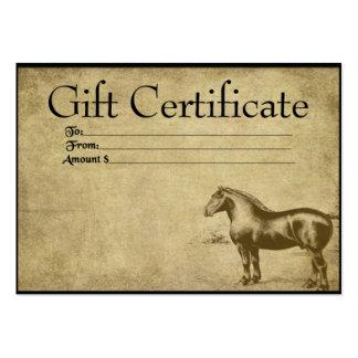 Ol' Work Horse- Prim Gift Certificate Cards