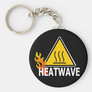 Ola de calor - señal de peligro de la ola de calor llavero redondo tipo pin
