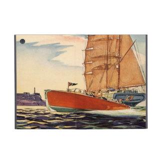 Ola oceánica antigua del barco de motor del velero iPad mini coberturas
