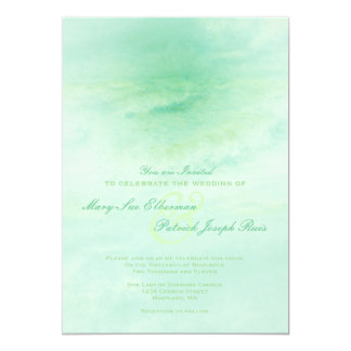 Ola oceánica: Invitación verde del boda de Seafoam