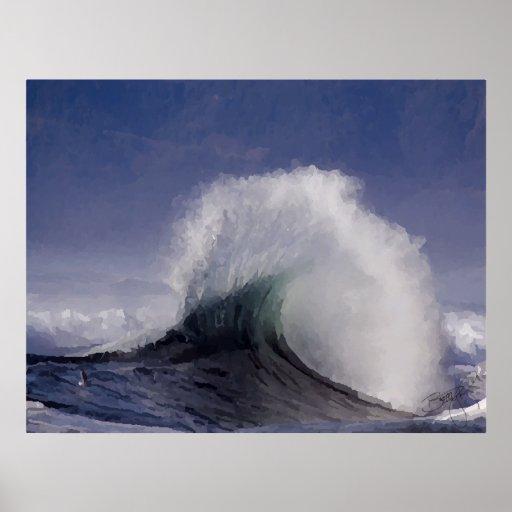 Ola oceánica poster