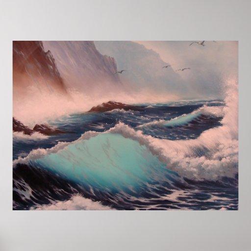 Ola oceánica - poster/impresión - capítulo en marz póster