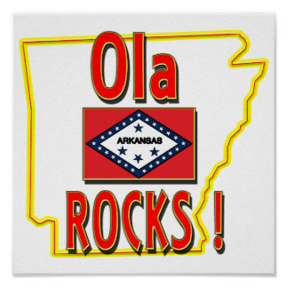 Ola Rocks ! (red) Poster