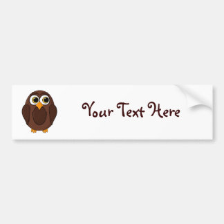 Ola the Wise Owl Cartoon Bumper Sticker