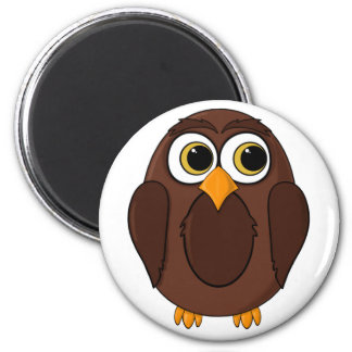 Ola the Wise Owl Cartoon 2 Inch Round Magnet