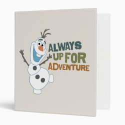 Avery Signature 1' Binder with Frozen's Olaf: Always Up for Adventure design