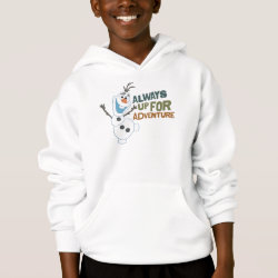 Frozen's Olaf: Always Up for Adventure Girls' American Apparel Fine Jersey T-Shirt